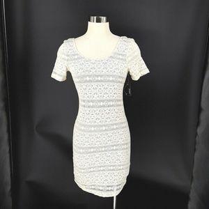 Ardene Love Dress Medium Beige off white Lace Stre